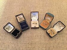 Collection of 5 Antique / Vintage Leather Ring / Jewellery Display Box / Boxes