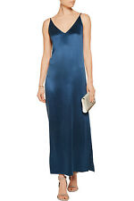 EQUIPMENT Racquel Silk Slip Dress in Majolica Blue Size Large L