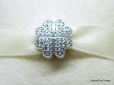 NEW! AUTHENTIC PANDORA CHARM PETALS OF LOVE CLIP #791805CZ HINGED BOX INCLUDED