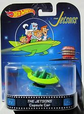 HOT WHEELS 2014 RETRO THE JETSONS CAPSULE CAR WITH STAND