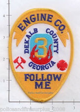 Georgia - Dekalb County Engine 3 GA Fire Dept Patch