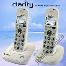 CLARITY D712 DECT 6.0 - 2 AMPLIFIED LOUD CORDLESS PHONES W/ANSWERING MACHINE NEW