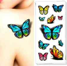 3D Butterfly Tattoo Decals Body Art Waterproof Temporary Tattoo 3D-30