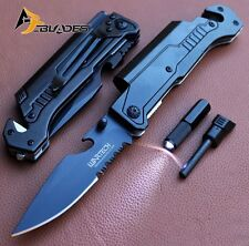 "8.75"" TACTICAL MULTI-FUNCTIONAL Spring Assisted P/Knife Outdoor Rescue - 9045BK"