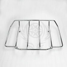 Chrome Tour Pak Pack Luggage Top Rack For Harley Touring Road King Street Glide