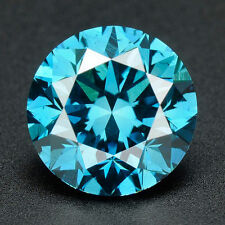 .032 cts. BUY CERTIFIED Round Cut Vivid Blue Color Loose Real/Natural Diamond