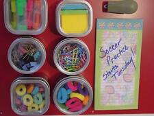 School Locker or Office Organization - Set of 6 Magnetic Tins