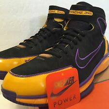 Nike Air Zoom Huarache 2k4 VIVO Foundation sz 12 PROMO Sample PE Lakers Kobe iv
