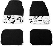 Nouvelle marque fleur noir, intérieur de voiture tapis 4 piece
