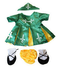 Irish Dress Costume Clothes to fit 35.6-45.7cm (40cm) Build a Bears Plush