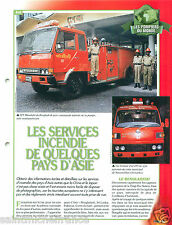 Nissan Incendie Country Fire Service Asia Bangladesh Pompier FICHE FIREFIGHTER