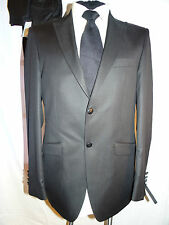£279 WILVORST-GERMANY FAB ELEGANT SLIM LINE GLITZY BLACK DRESS SUIT UK 36 EU 46