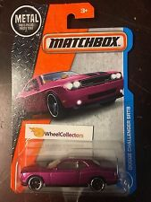 Dodge Challenger SRT8 #21 * PURPLE * Matchbox 2017 * Case G