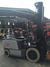 TEU Electric Forklift 3.5T 6m Lift Container Mast Fork Positioner Hire $239/pw+G