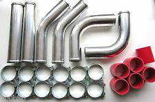 "Universal Pipework Kit 76mm (3"") for Front Mount Intercooler (FMIC) - RED"