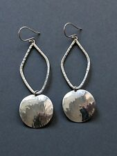 Silpada Sterling Silver Large Round Disc Dangle Earrings