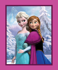 Disney's ~ Frozen Sisters Elsa & Anna Panel Fabric Wallhanging - 100% Cotton