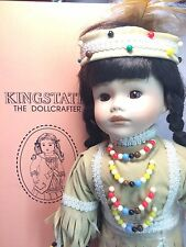 "Kingstate Dollcrafter Little Indian Native American 16"" Porcelain Bisque Doll"