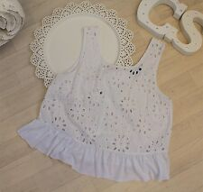 Topshop Anglaise Broderie Floral Lace Festival Boho Boxy Frill Smock Sun Tank 10