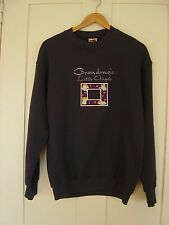 "WOMEN'S ""FRUIT OF THE LOOM"" NAVY, GRANDMAS LITTLE ANGLES SWEATSHIRT  SIZE MEDIUM"