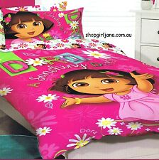 Dora the Explorer - Sunshiny Day - Double/Full Bed Quilt Doona Duvet Cover set