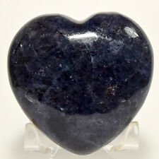 "2.7"" Deep Blue Iolite Puffy Heart Natural Dichroite Sparkling Crystal - India"