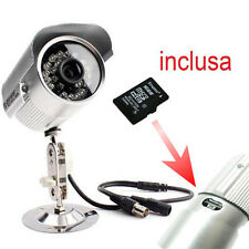 TELECAMERA CON REGISTRAZIONE SU MICRO SD 16GB CON INFRAROSSI VIDEOSORVEGLIANZA