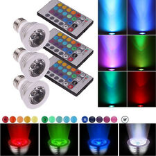 3Pcs E27 3W Remote Control 16 Color Magic RGB LED Bulb Spot Light Energy Saving