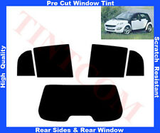 Pre-Cut Window Tint Smart Forfour 5D 2004-06 Rear Window & Rear Sides Any Shade