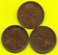 USA ONE CENT COINS - 1911, 1916, 1917