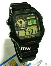 Latest Casio AE-1200WH-1B Resin Digital World Time Mans 100M Sports Alarms Watch