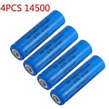 4x 1200mAh 14500 3.7v Li-ion Rechargeable Battery For Flashlight Torch Headlamp
