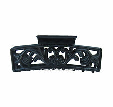 "4"" Shiny Black Open-Work ""Art Nouveau"" Butterfly Hair Clip Claw Clamp Barrette"