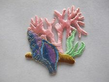 #3483 Conch,Coral Fishing Embroidery Iron On Applique Patch