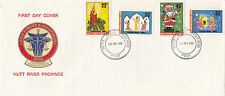 Stamps Hutt River Province 1980 Christmas set of 4 on Fdc inc insert