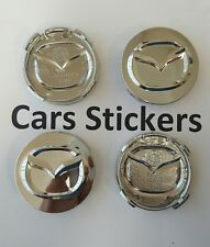 Set of 4 Chrome Mazda 54mm Alloy Wheel Centre Cap  2 3 5 6 CX-5 CX-7 CX-9 RX8