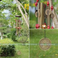 Antique 4 Tubes 5 Bells Copper Yard Garden Outdoor Living Home Wind Chimes 65cm