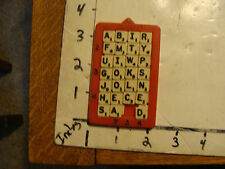 Vintage Puzzle: pocket SCRABBLE puzzle, hard to find.