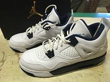 USED NIKE AIR JORDAN IV 4 RETRO BG COLUMBIA LEGEND BLUE 408452 107 SZ 7 YOUTH