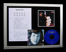 DON McLEAN American Pie LTD GALLERY QUALITY CD FRAMED DISPLAY+FAST GLOBAL SHIP