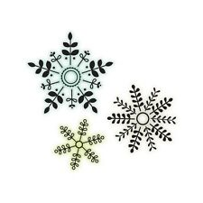 "Imaginisce ""Christmas Clear Acrylic Stamps"" Snowflakes"" All 3 in One Stamp"