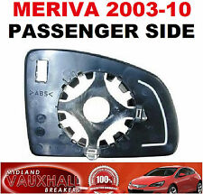 VAUXHALL MERIVA A MANUAL WING MIRROR GLASS PASSENGER NEAR SIDE CLUB BREEZE LIFE