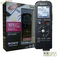 ! nuevo! Sony 4GB Digital Dictafono Grabadora De Voz IC Flash MP3 y USB-ICD-UX533
