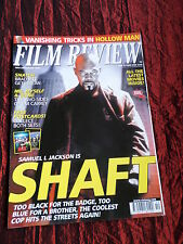 FILM REVIEW MAG - SAMUEL L JACKSON  - CLINT EASTWOOD - KEVIN BACON - OCT 2000