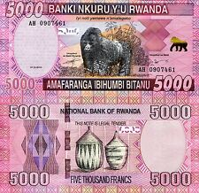 RWANDA 2000 Francs Banknote World Paper Money UNC Currency p40a Africa Gorilla