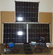 240W 3 PANEL COMPLETE SOLAR KIT, 1000W POWER INVERTER, CONTROLLER, 12V BATTERIES