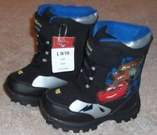 DISNEY CARS WINTER SNOW BOOTS TODDLER BOYS SIZE 9/10 - BRAND NEW