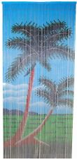Natural Bamboo Beaded Curtain 2 Palm Trees Beads Window Doors Room Divider New