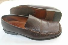 ANTONIO BOSSI  SIZE 10 1/2 M FROM NORDSTROM BROWN EMBOSSED LEATHER LOAFERS