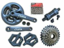6x3 18 Speed MTB Mountain Bike Drivetrain Crankset Chain Set Freewheel Group Set